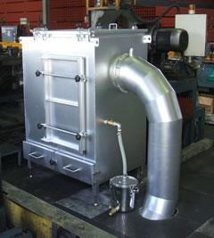 鋼管切削粉エアーブロー用集塵装置