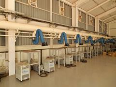 溶接ヒューム局所排気装置