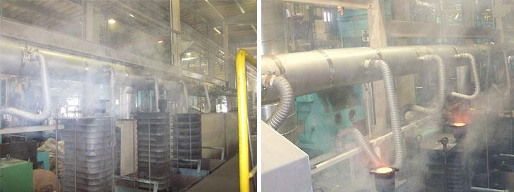 鋳物工場注蕩時排煙設備導入事例