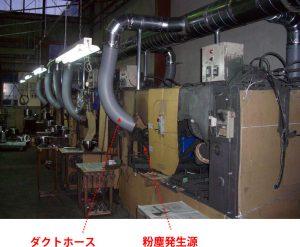 ボウル自動研磨機の局排導入事例